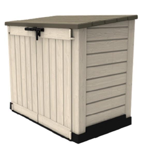 keter store it out max beige braun 6027 gartenbox m lltonne ebay. Black Bedroom Furniture Sets. Home Design Ideas
