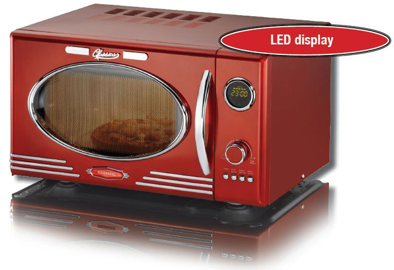 melissa 16330088 classico mikrowelle rot online bestellen. Black Bedroom Furniture Sets. Home Design Ideas