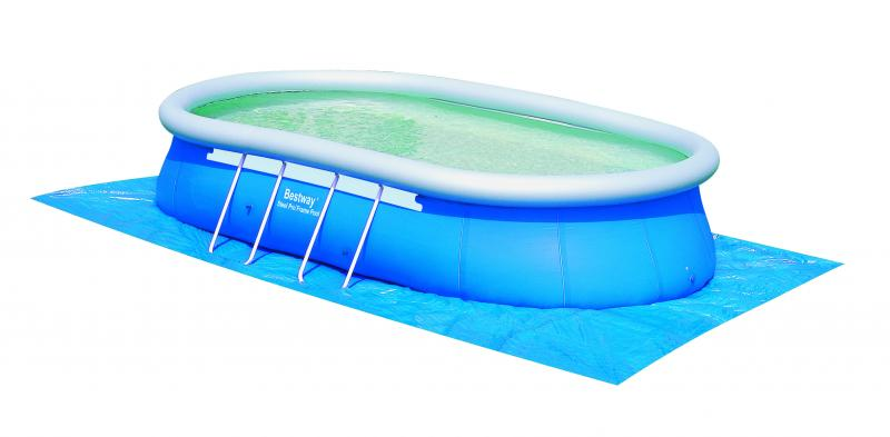 Bestway oval fast set pool 549x366x122 cm 56153nl 02 for Gartenpool oval