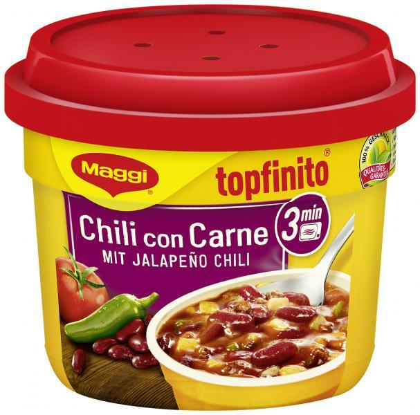 maggi topfinito chili con carne mit jalapeno chili 380 g online bestellen bei. Black Bedroom Furniture Sets. Home Design Ideas
