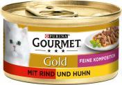 Gourmet Gold mit Rind & Huhn  <nobr>(85 g)</nobr> - 3222270493864