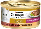 Gourmet Gold mit Ente & Truthahn  <nobr>(85 g)</nobr> - 3222270493871