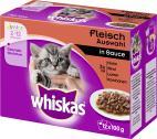 Whiskas Junior Fleisch Auswahl in Sauce  <nobr>(12 x 100 g)</nobr> - 4008429074097