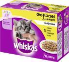 Whiskas Junior Gefl�gel Auswahl in Gelee  <nobr>(12 x 100 g)</nobr> - 4008429074158