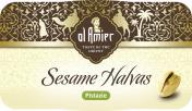 Al Amier Sesam-Halvas mit Pistazien  <nobr>(100 g)</nobr> - 4013200387600