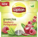 Lipton Green Tea Raspberry Pomegranate Pyramidenbeutel  <nobr>(28 g)</nobr> - 8712100620676