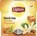 Lipton Black Tea Vanilla Caramel Pyramidenbeutel  <nobr>(34 g)</nobr> - 8712100768835