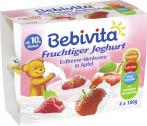 Bebivita Fruchtiger Joghurt Erdbeere-Himbeere in Apfel  <nobr>(4 x 100 g)</nobr> - 4018852017189