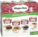 Häagen-Dazs Eiscreme Favorite Selection  <nobr>(4 x 100 ml)</nobr> - 3415581571004