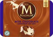 Magnum Milchschokolade Eis  <nobr>(4 St.)</nobr> - 8712100633621