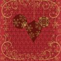 Duni Ornate X-mas Red Tissue-Servietten 33x33cm  <nobr>(20 St.)</nobr> - 7321011718207