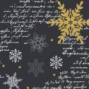 Duni Snowflakes Black Tissue-Servietten 33x33cm  <nobr>(1 St.)</nobr> - 7321011718399
