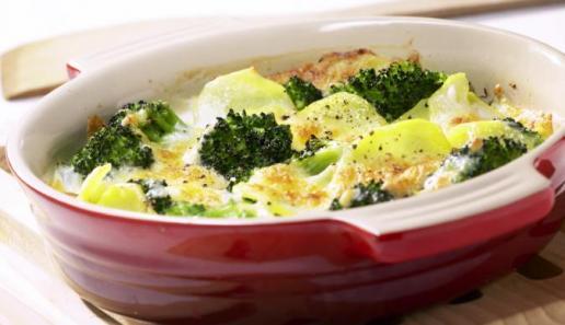 Kartoffel-Gratin Broccoli