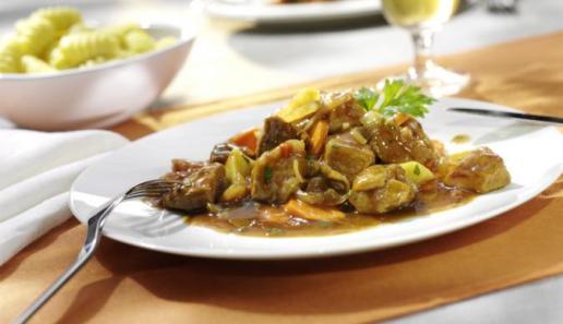 Möhren-Fleisch-Ragout