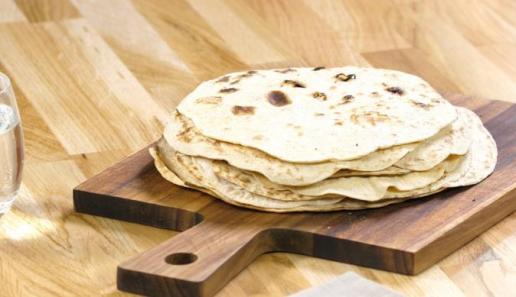 Tortillas aus Weizenmehl