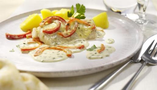 Paprika-Seelachs aus dem Ofen