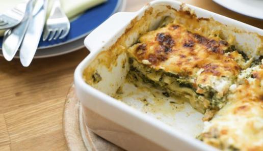 Lachs-Spinat Lasagne