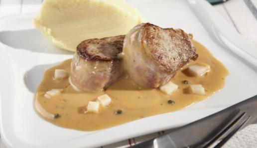 Schweinemedaillons in Birnen-Pfeffer-Sauce