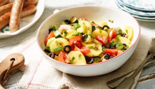 Warmer Kartoffel-Zucchinisalat