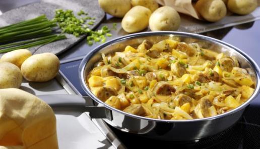 Kartoffel-Bratwurst-Pfanne