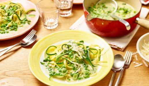 Linguine mit grüner Carbonara