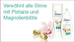Neu bei Dove: Hautpflege mit Magnolie und Pistazie