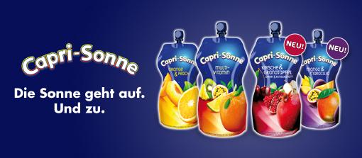 Capri-Sonne: Die Sonne geht auf. Und zu.