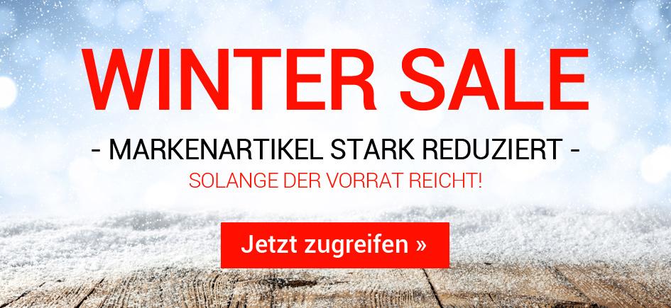 Wintersale - Markenartikel stark reduziert - Solange der Vorrat reicht! Jetzt zugreifen