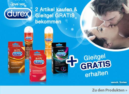 Vorteilskauf: Beim Kauf von 2 Durex Artikel erhalten Sie Gleitgel gratis!