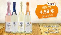 Angebotspreis: Jules Mumm Sekt (750 ml), Streichpreis: 4,99; Angebotspreis: 4,59 Euro, inkl. MwSt., zzgl. Versand