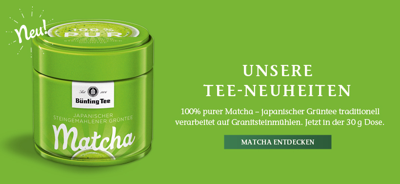 Neu: Bünting Matcha Grüntee pur (30 g)