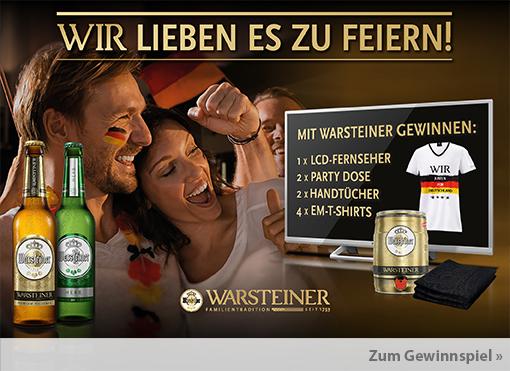 Gewinnspiel: Gewinnen Sie viele Gewinne zusammen mit Warsteiner. Hauptgewinn ist ein LCD Fernseher.