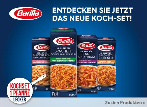 Neuheit: Barilla Kochsets.