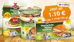 Angebot: Rügenwalder versch. vegetarische Produkte, Streichpreis ab 1,29 Euro, Angebotspreis 1,10 Euro, zzgl. Versand, inkl. MwSt. - zum Bestellen hier klicken.