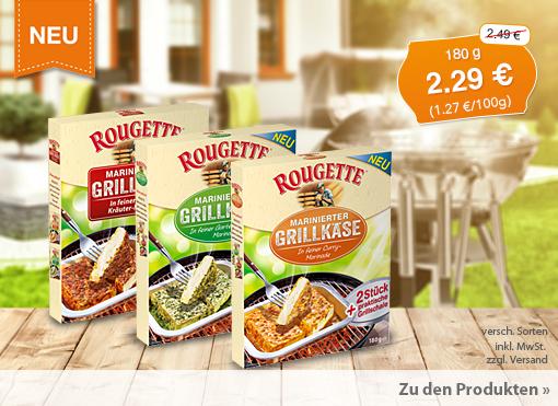 Angebot: Roguette Grillkäse, Streichpreis 2,49 Euro, Angebotspreis 2,29 Euro, zzgl. Versand, inkl. MwSt.