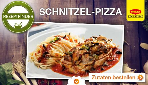 Rezept für: Schnitzel-Pizza