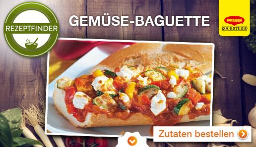 Rezept für: Gemüse-Baguette