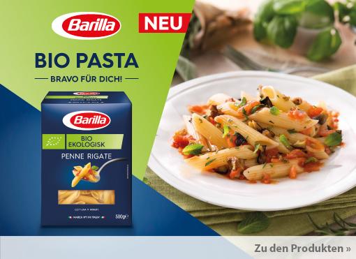Neuheit: Barilla Bio Pasta - zum Bestellen hier klicken.