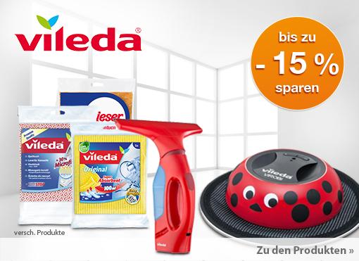 Angebot: bis zu 15% Rabatt auf unser Vileda Sortiment - zum Bestellen hier klicken.