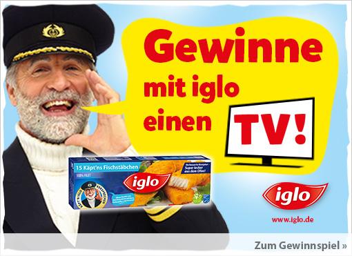 Gewinnspiel: Mit Iglo einen TV gewinnen - zum Mitmachen hier klicken.
