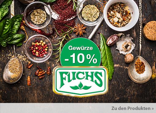 Angebot: 10% auf Fuchs Gewürze - zum Bestellen hier klicken.