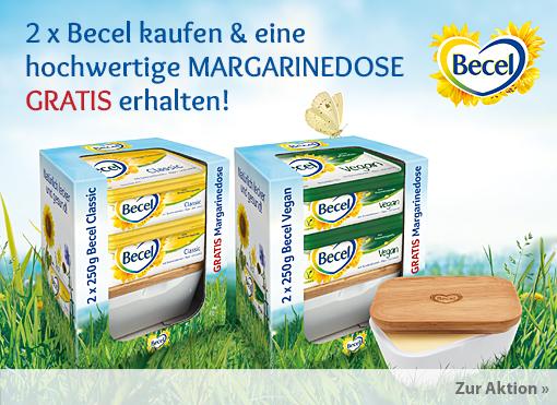 Aktion: Becel Gratis Margarinedose beim Kauf von 2 x Becel vegan oder Classic - zum Bestellen hier klicken.