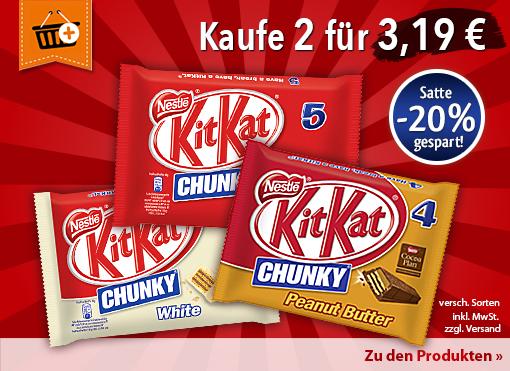 Neuheit: jetzt 3 neue Leckerbissen von Kitkat bei myTime - zum Bestellen hier klicken.