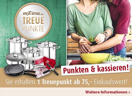 myTime Treueaktion: Die Treuepunkte sind wieder da, erhalten Sie ab 75 Euro Einkaufswert einen Treupunkte - Für weitere Informationen hier klicken.