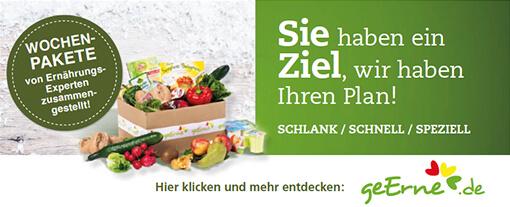 Partner: Entdecken Sie perfekt für Sie zusammengestellte Essens-Pakete von unserem Partner geerne.de - zum Entdecken hier klicken.