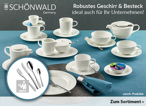 Tolle und robuste Produkte von Schönwald ( Geschirr, Besteck und Gläser ) zum Bestellen hier klicken.