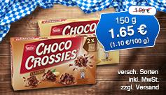 Angebot: Choco Crossies, 150g, Streichpreis 1,99 Euro, Angebotspreis 1,65 Euro, zzgl. Versand, inkl. Mwst. - zum Bestellen hier klicken.