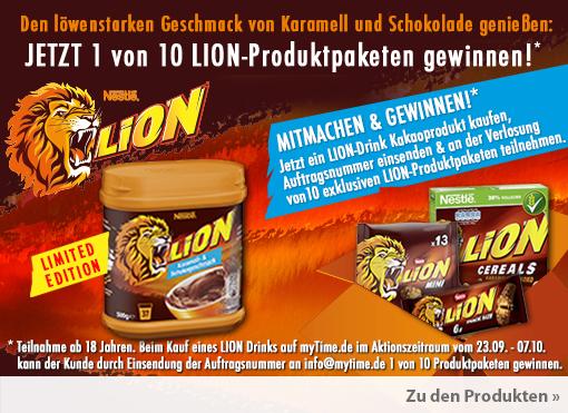 Gewinnspiel: Unter allen Käufern, die Ihre Rechnung bei uns hochladen, verlosen wir Produktpakete von Lion - zum Bestellen hier klicken.