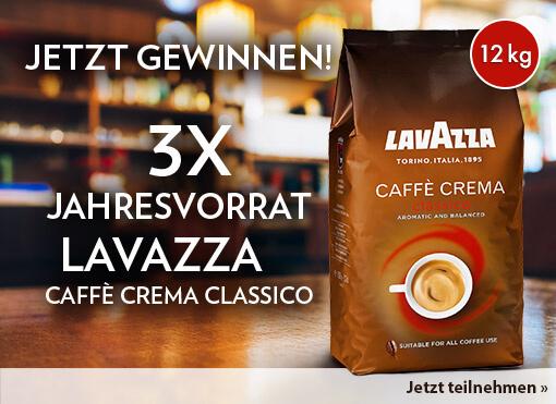 Gewinnspiel: Gewinnen Sie 1 von 3 Jahresvorräten an Kaffee von Lavazza ( 12kg )- zum Mitmachen hier klicken .