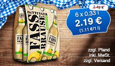 Angebot: Oettinger Fassbrause, 6x0,33 l, Streichpreis:  2,49 Euro, Angebotspreis: 2,19 Euro, inkl. MwSt., zzgl. Versand - zum Bestellen hier klicken